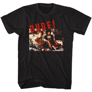 Bill And Ted-Dude-Black Adult S/S Tshirt - Coastline Mall