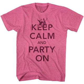Bill And Ted-Party-Retro Pink Heather Adult S/S Tshirt - Coastline Mall