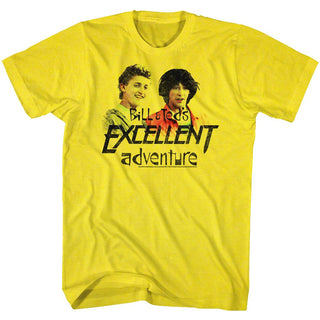 Bill And Ted-Dudes-Yellow Adult S/S Tshirt - Coastline Mall