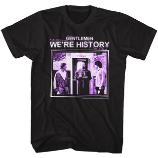Bill And Ted-GWH History-Black Adult S/S Tshirt - Coastline Mall