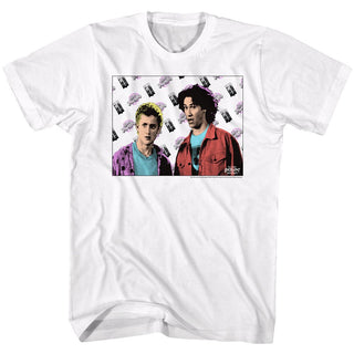Bill And Ted-Flyin-White Adult S/S Tshirt - Coastline Mall
