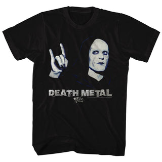Bill And Ted-Death Metal-Black Adult S/S Tshirt - Coastline Mall