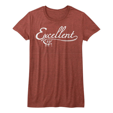 Bill And Ted-Excellent-Red Heather Ladies Bella S/S Tshirt
