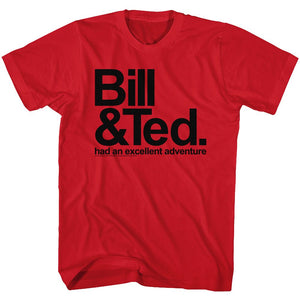 Bill And Ted-Bnt-Red Adult S/S Tshirt