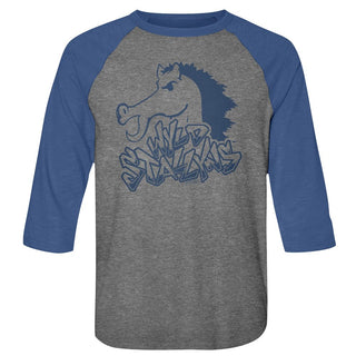 Bill And Ted-Blue Stallion-Premium Heather/Vintage Royal Adult 3/4 Sleeve Raglan - Coastline Mall