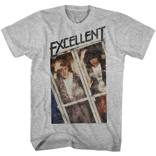 Bill And Ted-Excellent-Gray Heather Adult S/S Tshirt - Coastline Mall