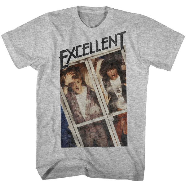Bill And Ted-Excellent-Gray Heather Adult S/S Tshirt