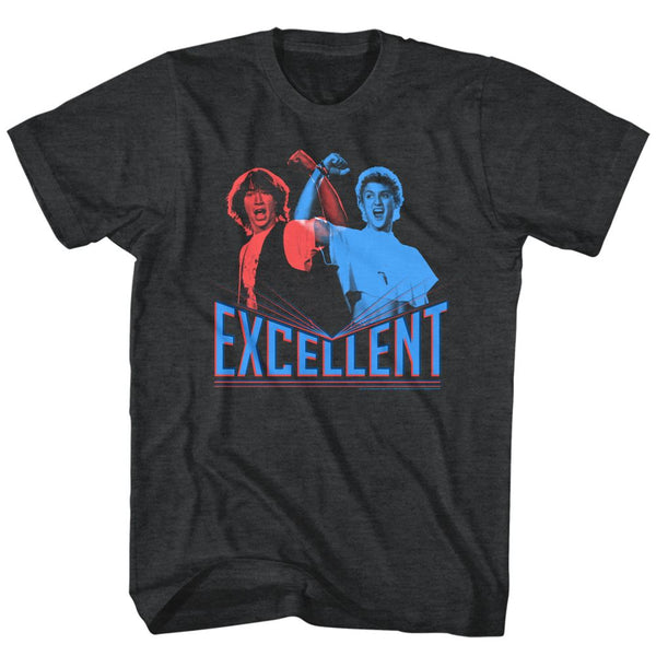 Bill And Ted-3D Excellent-Black Heather Adult S/S Tshirt