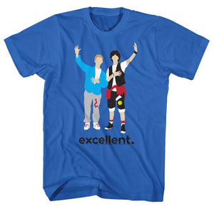Bill And Ted-Minimal-Royal Adult S/S Tshirt