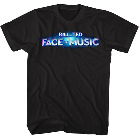 Bill And Ted-Face the Music Logo-Black Adult S/S Tshirt
