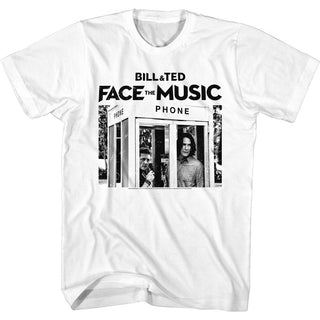 Bill And Ted-Face the Music-Phone Booth White Adult S/S Tshirt - Coastline Mall