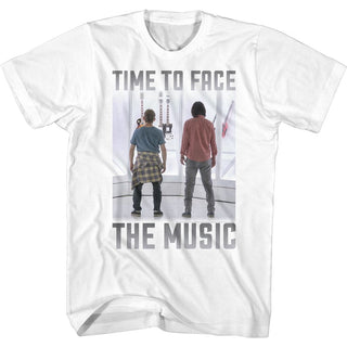 Bill And Ted-Face the Music-Time To Face White Adult S/S Tshirt - Coastline Mall