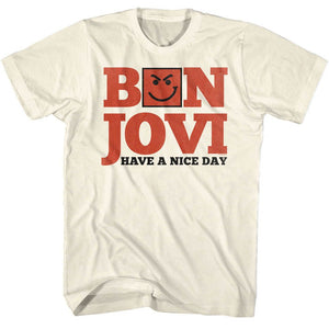 Bon Jovi-Have A Nice Day-Natural Adult S/S Tshirt