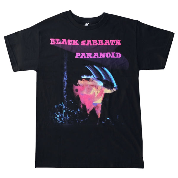 Black Sabbath - Paranoid Logo Black Short Sleeve Adult Soft Slim Fit Unisex Jersey T-Shirt tee - Coastline Mall