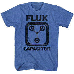 Back To The Future-Flux-Royal Heather Adult S/S Tshirt