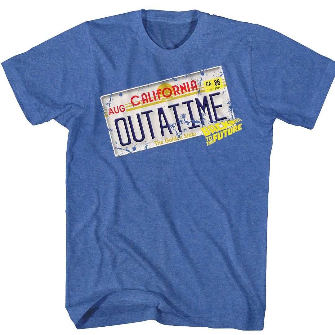 Back To The Future-Outa It-Royal Heather Adult S/S Tshirt