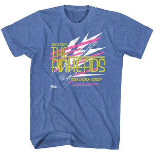Back To The Future-Pinhead-Royal Heather Adult S/S Tshirt