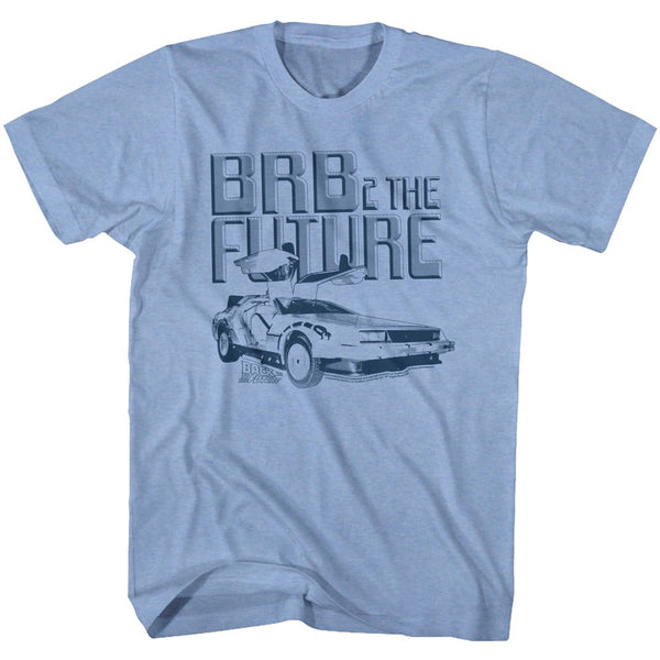 Back To The Future-Brb2-Light Blue Heather Adult S/S Tshirt