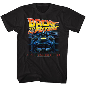 Back To The Future-G Side-Black Adult S/S Tshirt