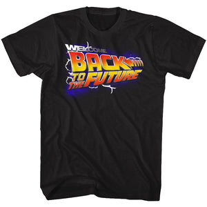 Back To The Future-Wbs-Black Adult S/S Tshirt