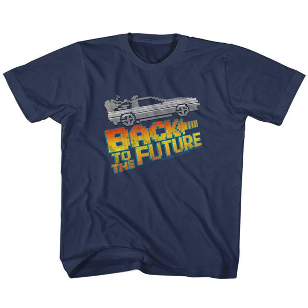 Back To The Future-8Bit To The Future-Navy Toddler-Youth S/S Tshirt