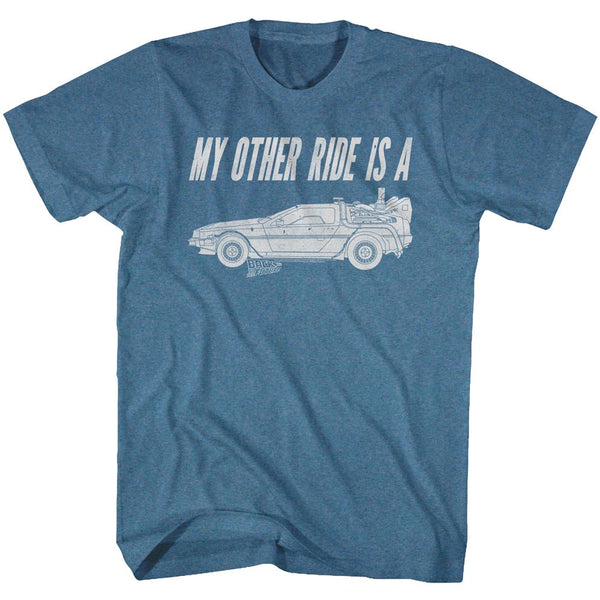 Back To The Future-My Other Ride-Pacific Blue Heather Adult S/S Tshirt