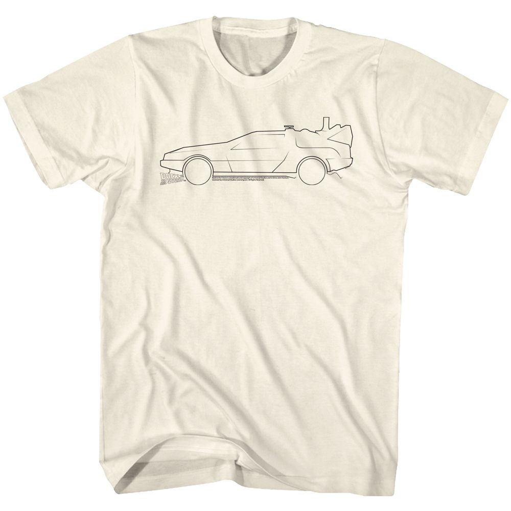 Back To The Future-Lines-Natural Adult S/S Tshirt