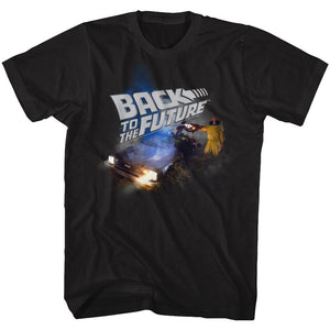 Back To The Future-Smoky-Black Adult S/S Tshirt