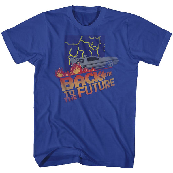 Back To The Future-Nes Cover-Royal Adult S/S Tshirt