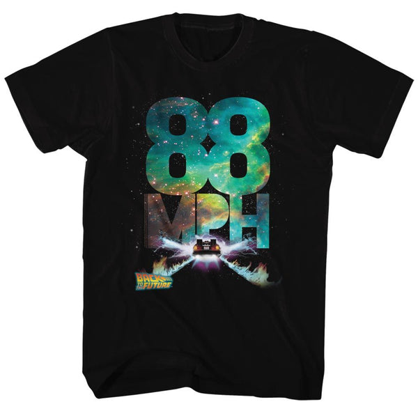 Back To The Future-Galactic Speed-Black Adult S/S Tshirt