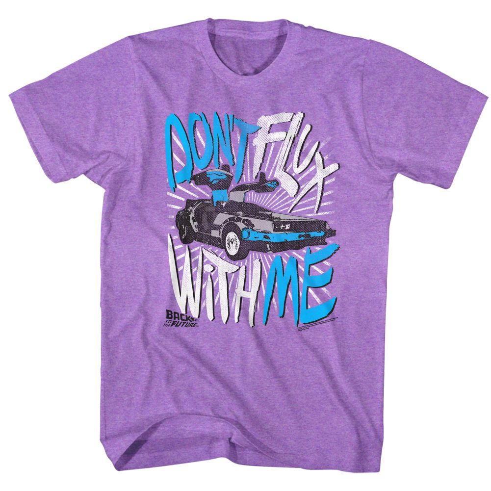 Back To The Future-Flux Off-Neon Purple Heather Adult S/S Tshirt