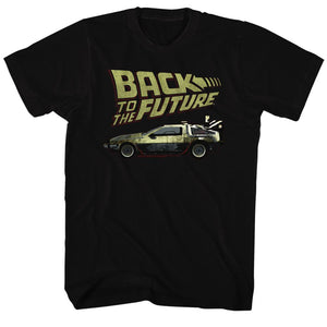 Back To The Future-Btf-Black Adult S/S Tshirt