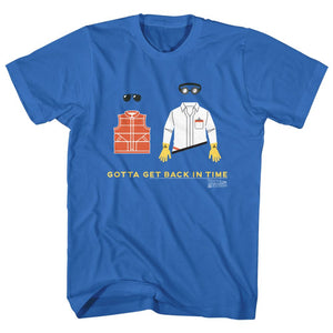 Back To The Future-Gotta Get Back-Royal Adult S/S Tshirt