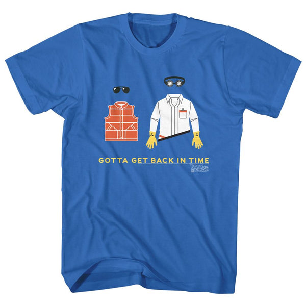 Back To The Future-Gotta Get Back-Royal Adult S/S Tshirt - Coastline Mall