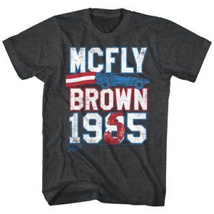Back To The Future-Marty For Prez-Black Heather Adult S/S Tshirt