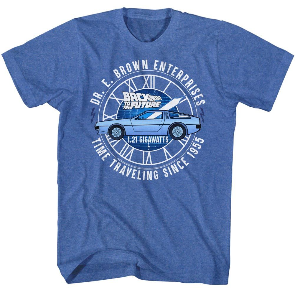 Back To The Future-Dr E Brown Enterprises-Royal Heather Adult S/S Tshirt