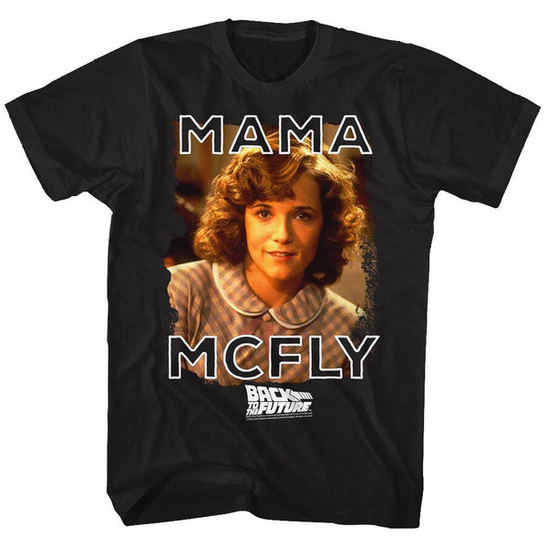 Back To The Future-Mama Mcfly-Black Adult S/S Tshirt