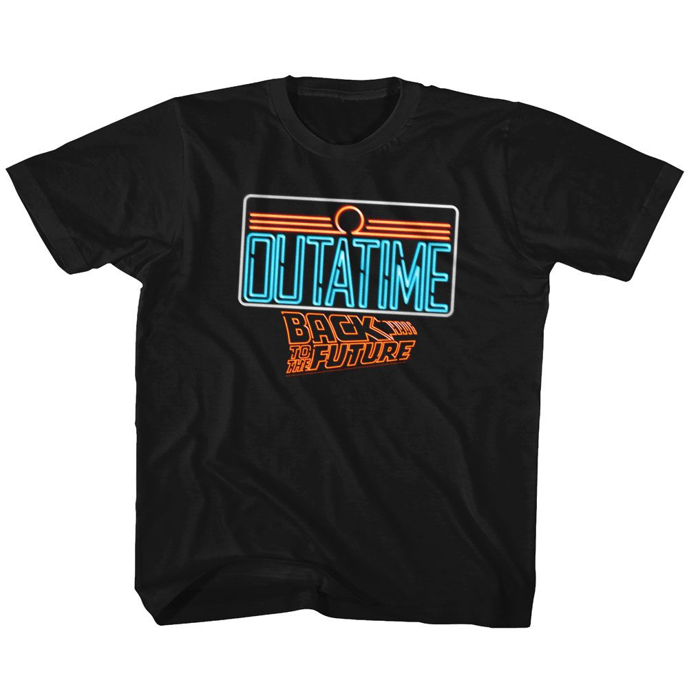 Back To The Future-Neon-Black Toddler-Youth S/S Tshirt