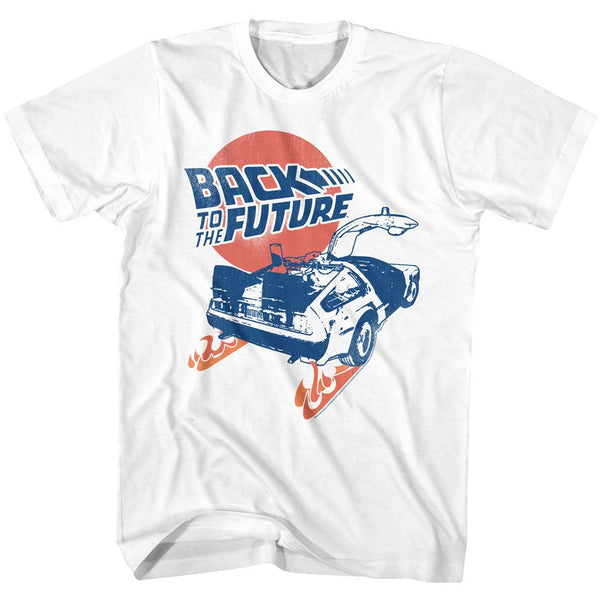 Back To The Future-Bttf-White Adult S/S Tshirt