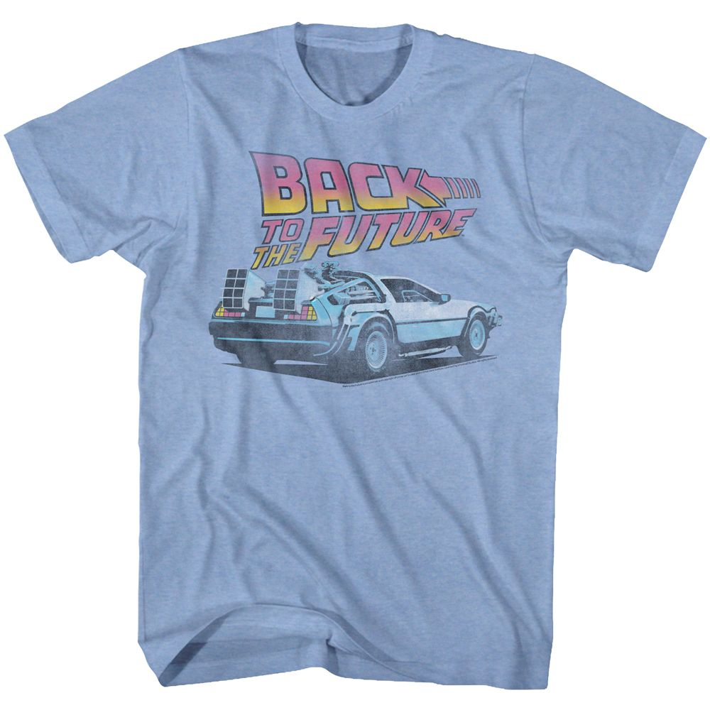 Back To The Future-Future-Light Blue Heather Adult S/S Tshirt