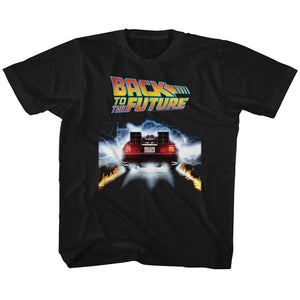 Back To The Future-Tail Lights-Black Toddler-Youth S/S Tshirt