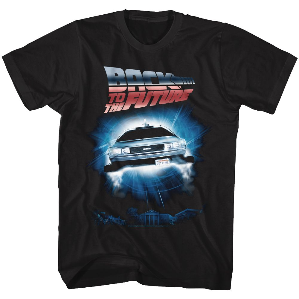 Back To The Future-Backtothefuture-Black Adult S/S Tshirt