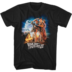 Back To The Future-Btf3333Cowboyhats-Black Adult S/S Tshirt