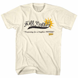 Back To The Future-Hill Valley High 55-Natural Adult S/S Tshirt