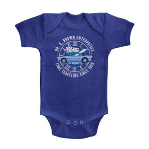Back To The Future-Dr E Brown Enterprises-Vintage Royal Infant S/S Heather Bodysuit