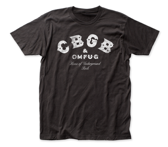 CBGB Distressed Logo fitted jersey tee