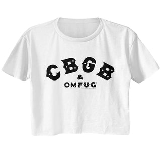 Cbgb-Cbgb Black-White Ladies S/S Festival Cali Crop - Coastline Mall