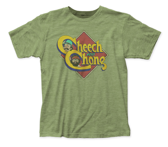 Cheech & Chong Caricature Logo fitted jersey tee