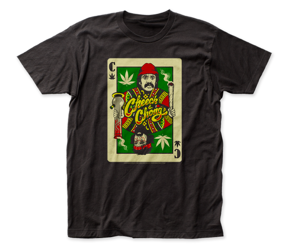 Cheech & Chong Playing Card fitted jersey tee