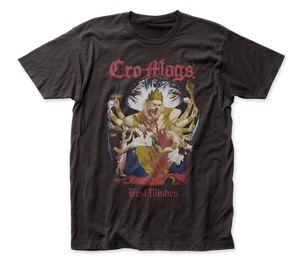 Cro-Mags Down, But Not Out front-back print fitted jersey tee